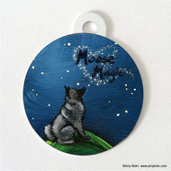 DOUBLE SIDED PET ID TAG · MOOSE MAGIC · NORWEGIAN ELKHOUND · AMY BOLIN