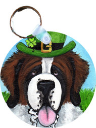 KEY CHAIN · A BIG, WET IRISH KISS · SAINT BERNARD · AMY BOLIN
