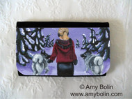 LARGE ORGANIZER WALLET · A SNOWY WALK · NORWEGIAN ELKHOUND · AMY BOLIN