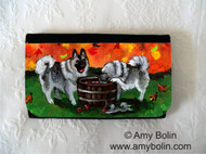 LARGE ORGANIZER WALLET · BOBBING FOR APPLES · NORWEGIAN ELKHOUND · AMY BOLIN
