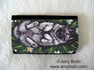 LARGE ORGANIZER WALLET · HAPPINESS IS A FIELD OF DAISIES · NORWEGIAN ELKHOUND · AMY BOLIN