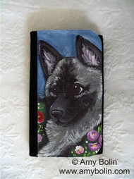 LARGE ORGANIZER WALLET · MOM'S FAVORITE DAISY · NORWEGIAN ELKHOUND · AMY BOLIN