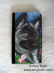 LARGE ORGANIZER WALLET · MOM'S FAVORITE FLOWER · NORWEGIAN ELKHOUND · AMY BOLIN
