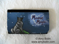 LARGE ORGANIZER WALLET · MOOSE MAGIC · NORWEGIAN ELKHOUND · AMY BOLIN
