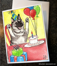 NOTE CARDS · IT'S MY PARTY · NORWEGIAN ELKHOUND · AMY BOLIN