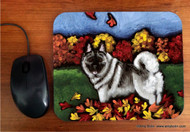 MOUSE PAD · CHASING LEAVES · NORWEGIAN ELKHOUND · AMY BOLIN