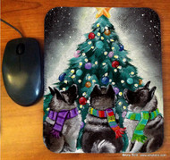 MOUSE PAD · CHRISTMAS TOGETHER · NORWEGIAN ELKHOUND · AMY BOLIN