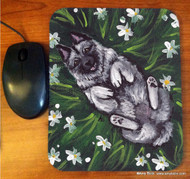 MOUSE PAD · HAPPINESS IS A FIELD OF DAISIES · NORWEGIAN ELKHOUND · AMY BOLIN