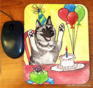 MOUSE PAD · IT'S MY PARTY · NORWEGIAN ELKHOUND · AMY BOLIN