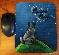 MOUSE PAD · MOOSE MAGIC · NORWEGIAN ELKHOUND · AMY BOLIN