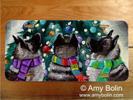 LICENSE PLATE · CHRISTMAS TOGETHER · NORWEGIAN ELKHOUND · AMY BOLIN