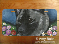 LICENSE PLATE · MOM'S FAVORITE DAISY · NORWEGIAN ELKHOUND · AMY BOLIN