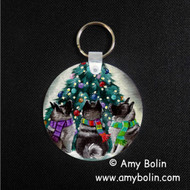 KEY CHAIN · CHRISTMAS TOGETHER · NORWEGIAN ELKHOUND  · AMY BOLIN