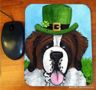 MOUSE PAD · A BIG, WET IRISH KISS · SAINT BERNARD · AMY BOLIN