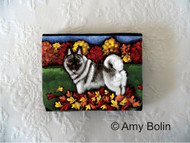 SMALL ORGANIZER WALLET · CHASING LEAVES · NORWEGIAN ELKHOUNDS · AMY BOLIN
