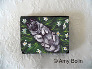 SMALL ORGANIZER WALLET · HAPPINESS IS A FIELD OF DAISIES · NORWEGIAN ELKHOUNDS · AMY BOLIN