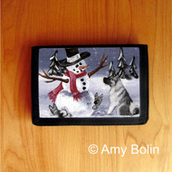 TRIFOLD WALLET · HIDE AND SEEK · NORWEGIAN ELKHOUND  · AMY BOLIN