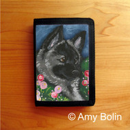 TRIFOLD WALLET · MOM'S FAVORITE FLOWER · NORWEGIAN ELKHOUND  · AMY BOLIN