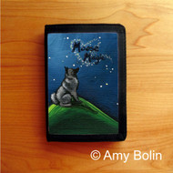 TRIFOLD WALLET · MOOSE MAGIC · NORWEGIAN ELKHOUND  · AMY BOLIN