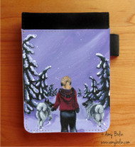 NOTEBOOKS (SEVERAL SIZES AVAILABLE) · A SNOWY WALK · NORWEGIAN ELKHOUND · AMY BOLIN