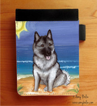 NOTEBOOKS (SEVERAL SIZES AVAILABLE) · BEACH BUM · NORWEGIAN ELKHOUND · AMY BOLIN