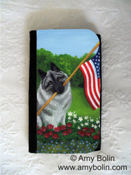 LARGE ORGANIZER WALLET · PROUD TO BE AMERICAN · NORWEGIAN ELKHOUND · AMY BOLIN