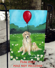 GARDEN FLAG · A GOLDEN AFTERNOON · GOLDEN RETRIEVER · AMY BOLIN