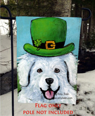 GARDEN FLAG · A BIG, WET IRISH KISS · GREAT PYRENEES · AMY BOLIN