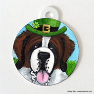 DOUBLE SIDED PET ID TAG · A BIG, WET IRISH KISS · SAINT BERNARD · AMY BOLIN