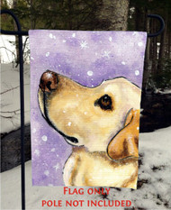 GARDEN FLAG · WISH UPON A SNOWFLAKE · LABRADOR RETRIEVER · AMY BOLIN