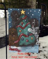 GARDEN FLAG · CHRISTMAS TOGETHER · BLACK, BROWN, LANDSEER NEWFOUNDLAND · AMY BOLIN