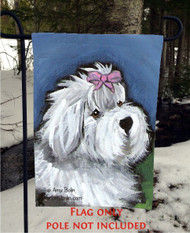 GARDEN FLAG · ALL GUSSIED UP · OLD ENGLISH SHEEPDOG · AMY BOLIN