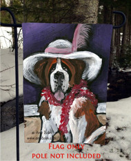 GARDEN FLAG · ALL DRESSED UP WITH NOWHERE TO GO · SAINT BERNARD · AMY BOLIN