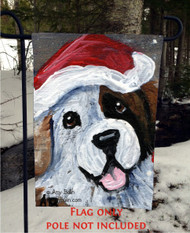 GARDEN FLAG · BE JOLLY · HALF MASK SAINT BERNARD · AMY BOLIN