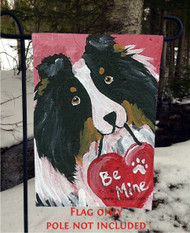 GARDEN FLAG · BE MY VALENTINE · TRI COLOR SHELTIE · AMY BOLIN