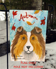 GARDEN FLAG · AUTUMN · SABLE SHELTIE · AMY BOLIN