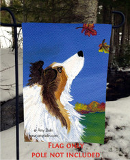GARDEN FLAG · AUTUMN'S SIMPLE PLEASURES 2 · SABLE SHELTIE · AMY BOLIN