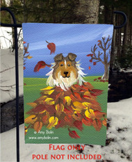GARDEN FLAG · AUTUMN'S SIMPLE PLEASURES · SABLE SHELTIE · AMY BOLIN