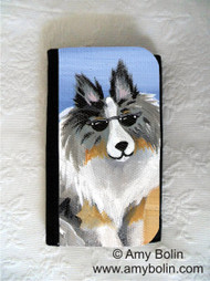 LARGE ORGANIZER WALLET · HELLO HOLLYWOOD · BLUE MERLE SHELTIE · AMY BOLIN