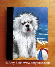 NOTEBOOKS (SEVERAL SIZES AVAILABLE) · BEACH BUM · OLD ENGLISH SHEEPDOG · AMY BOLIN