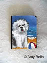 SMALL ORGANIZER WALLET · BEACH BUM · OLD ENGLISH SHEEPDOG · AMY BOLIN