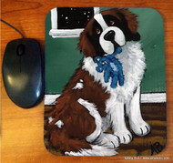 MOUSE PAD · BEDTIME BUDDIES · SAINT BERNARD · AMY BOLIN