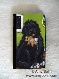 LARGE ORGANIZER WALLET · BEDTIME BUDDIES · IRISH SPOTTED NEWFOUNDLAND · AMY BOLIN