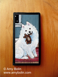 CHECKBOOK COVER · BEDTIME BUDDIES · SAMOYED · AMY BOLIN