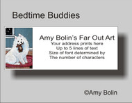 ADDRESS LABELS · BEDTIME BUDDIES · SAMOYED · AMY BOLIN