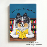 MAGNET · DOG TAILS VOL 5 · BLUE MERLE SHELTIE · AMY BOLIN