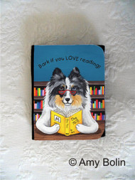 SMALL ORGANIZER WALLET · DOG TAILS VOL 5 · BLUE MERLE SHELTIE · AMY BOLIN