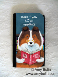 LARGE ORGANIZER WALLET · DOG TAILS VOL 3 · SABLE SHELTIE · AMY BOLIN