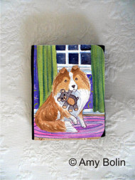 SMALL ORGANIZER WALLET · BEDTIME BUDDIES · SABLE SHELTIE · AMY BOLIN