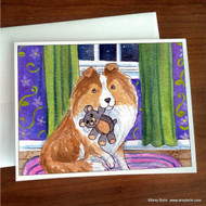 NOTE CARDS · BEDTIME BUDDIES · SABLE SHELTIE · AMY BOLIN
